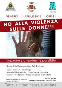 No alla violenza sulle donne! 01.04.16 Galbiate